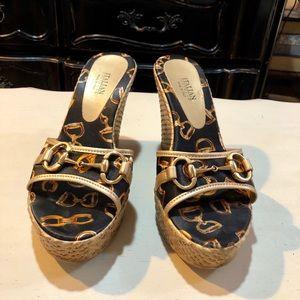 Italian Footwear platform slip-on sandal